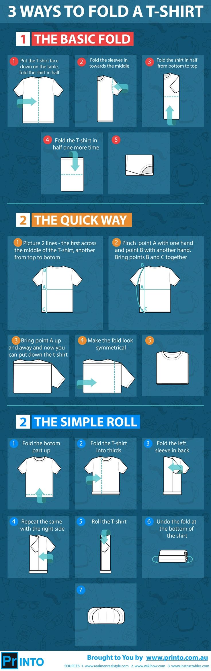 There are multiple ways to fold your favorite funny T-shirt. The right folding m...
