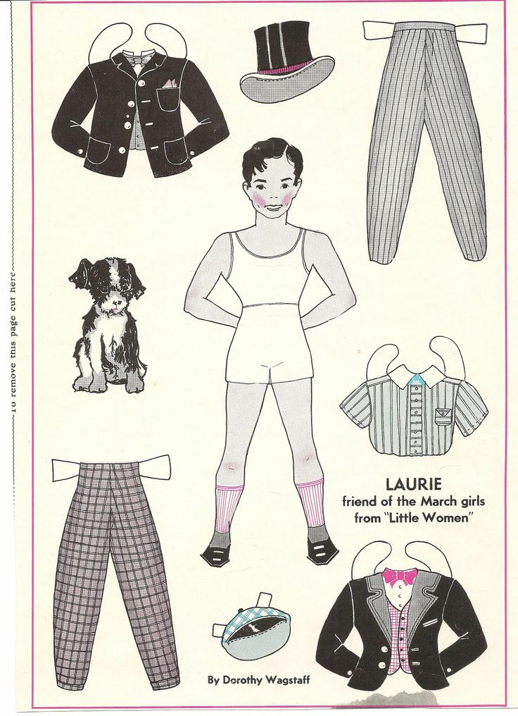 les 4 filles du docteur March Mostly Paper Dolls: Laurie Paper Doll by Dorothy Wagstaff