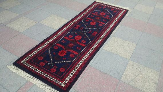 "Vintage Turkish handwowen Carpet runner rug pure wool 99"" x 32,6"" (251cm x 83cm)"