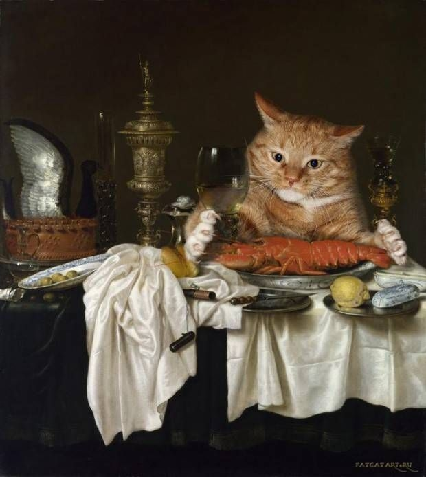 25 Famous Paintings Photobombed By A Fat Cat. WARNING: #4 Can't Be Unseen - Dose - Your Daily Dose of Amazing