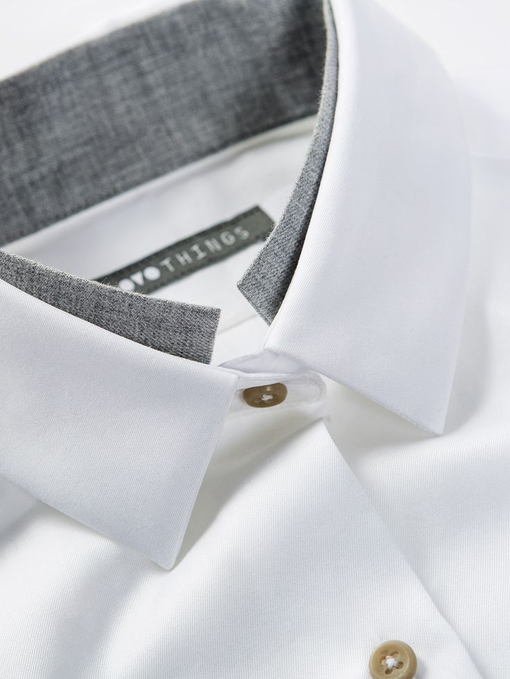 OVO Things Twill Shirt with a unique collar detail as just a hint of another collar.