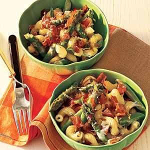 Black Pepper Pasta Salad with Prosciutto, Asparagus, and Romano | CookingLight.com