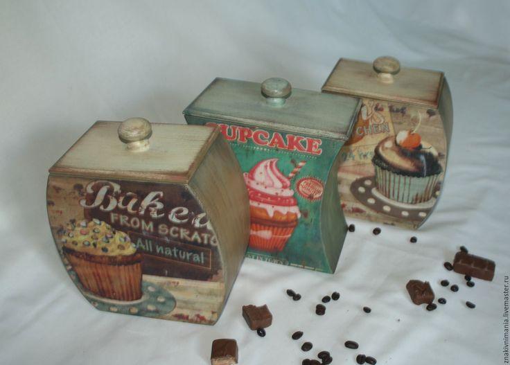 Купить Короба для чая, кофе и конфет - комбинированный, короб для чая, короб для кофе, банки для специй