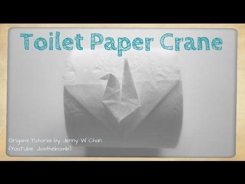 DIY Toilet Paper Crane - Origami Fun - How to Fold Origami Crane From Toilet Paper Roll - YouTube