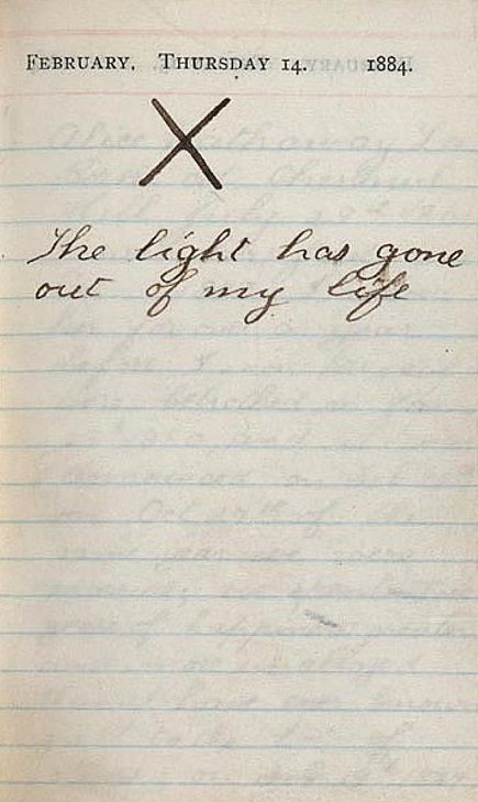 Valentine's Day 1884;  Theodore Roosevelt's diary after losing both his mother and his wife.
