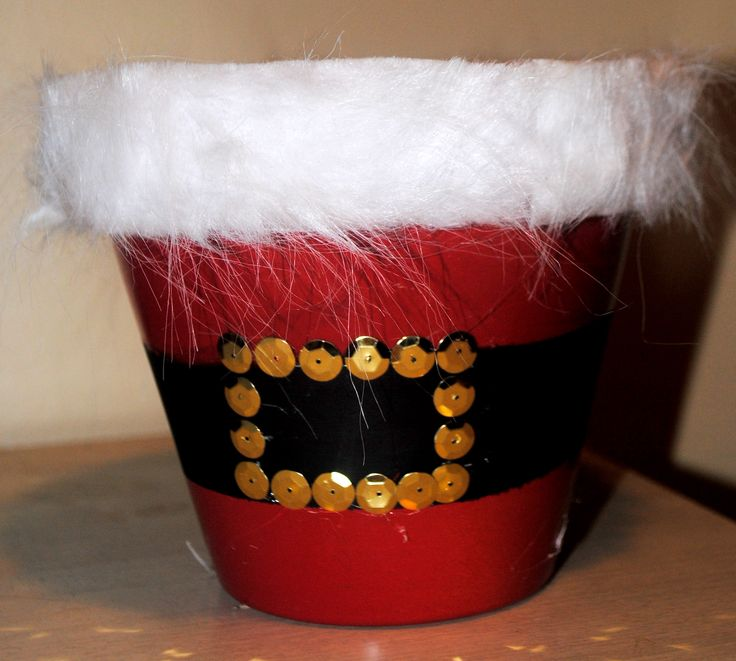 clay pot crafts | Diary of a Preppy Mom: {Christmas Craft Week: Day 2 - Santa's Belly ...