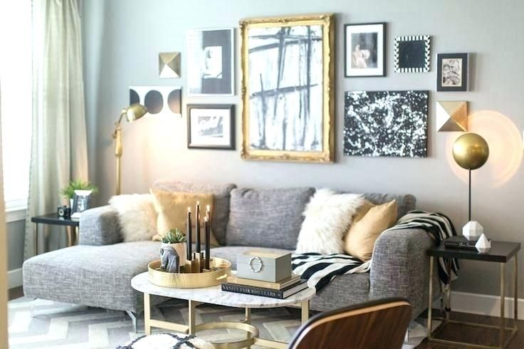 Gold Living Room Mixing And Gray Google Search Mirrored Furniture