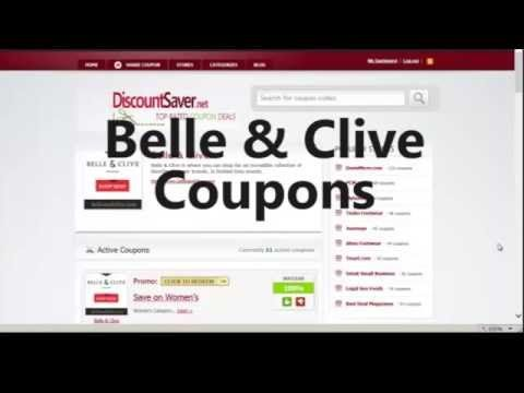 Belle & Clive Coupon 2015 - New Belle & Clive Coupon Codes