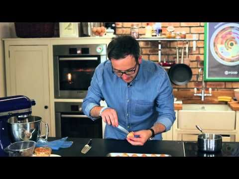 Will Torrent makes chocolate and caramel profiteroles