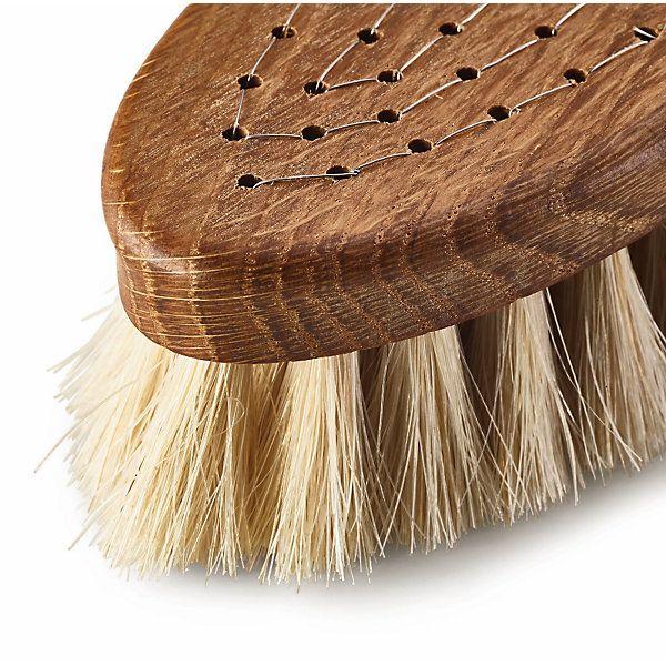 Eine solide Glanzbürste mit schwarzem oder hellem Besatz für dunkle bzw. helle Schuhe. Auch als Schmutzbürste für... - Glanzbürste Pferdehaar