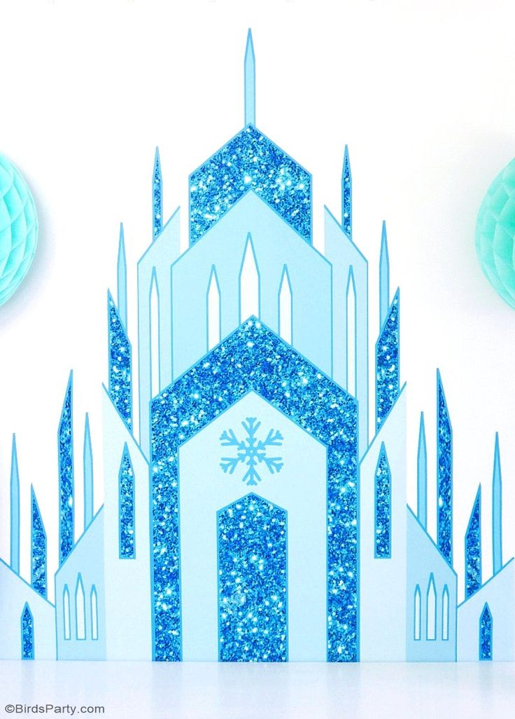 DIY Frozen inspired birthday party backdrop, perfect for desserts table decorations, a photo booth or even as bedroom decor!