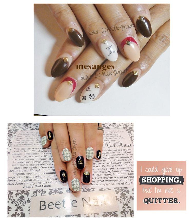 Attractive Chanel Nail Art Decals Frieze - Nail Art Ideas - morihati.com