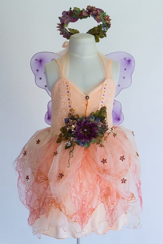 Ethereal and fun, this little fairy costume is perfect for parties, picnics, and wandering through fields of wildflowers! Three pieces make