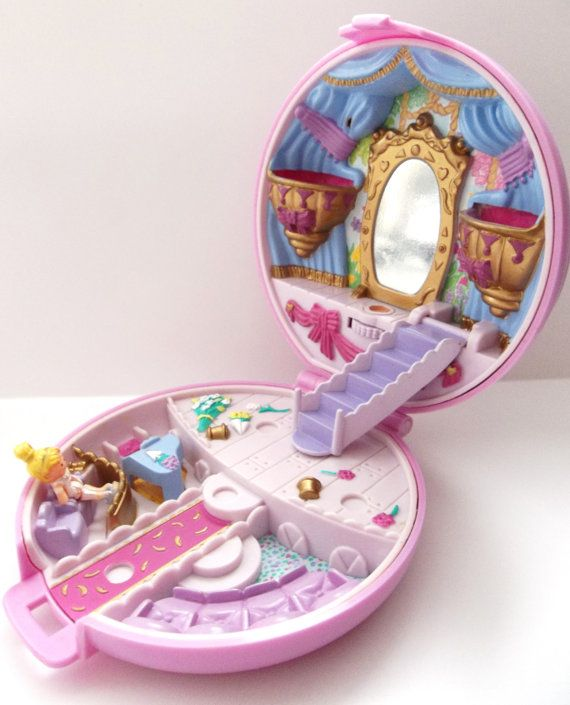 Polly Pocket Grand Ballet Ballerina Compact with by PopCulturelle.Vintage 80's - 90's
