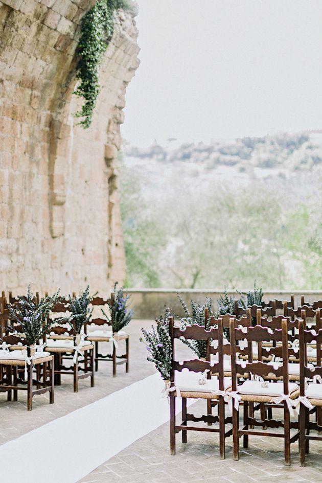 Intimate Italian Castle Wedding Ceremony Set Up | Facibeni Fotografia | Bridal Musings Wedding Blog 16