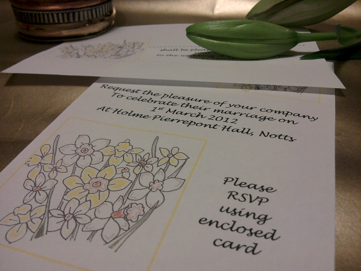 daffodil wedding theme    http://montymanatee-weddings.com/wp-content/ad-images/2012/03/new-stationery-pics-4.jpg