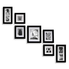 Mulitiple picture frames, black @ Bed Bath and Beyond