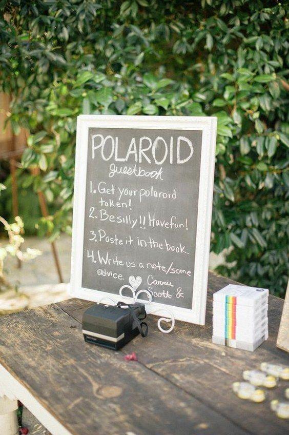 polaroid wedding guest book idea / http://www.deerpearlflowers.com/creative-polaroid-wedding-ideas/