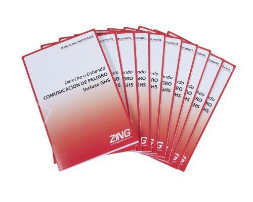 ZING 2709SPN Eco GHS-SDS Training Booklets, Spanish, 10/pack