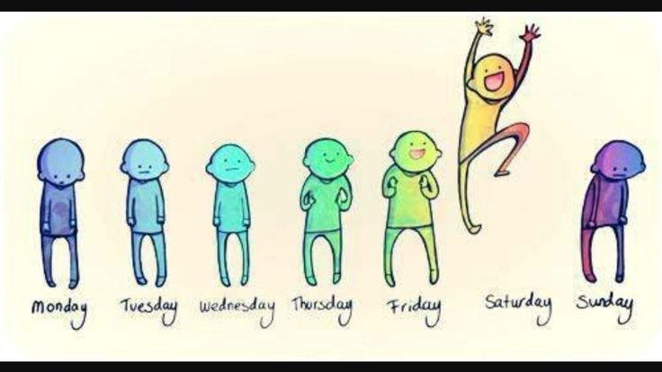 This how my week goes basically all the time