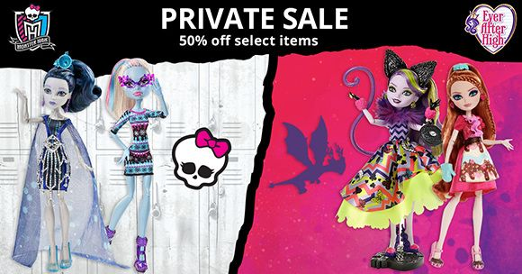 Deals on Monster High and Ever After High Dolls