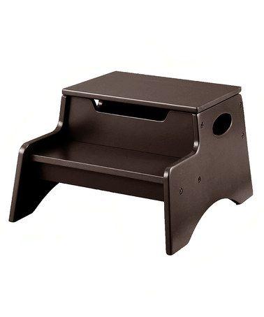 Espresso Step 'N' Store Footstool #zulily #zulilyfinds