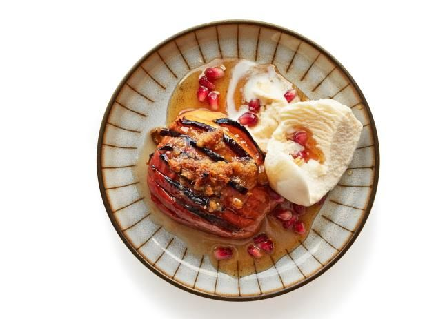 Get Hasselback Apples with Figs Recipe from Food Network