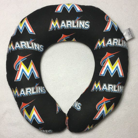 Miami Marlins Travel/Neck Pillow by AuntShellDesigns on Etsy