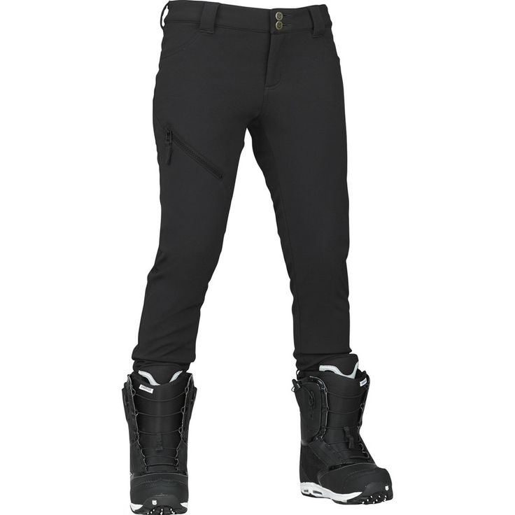 Burton skinny snow pant... Snowboard pants your can tuck into your pretty boots to show them off! Fab!