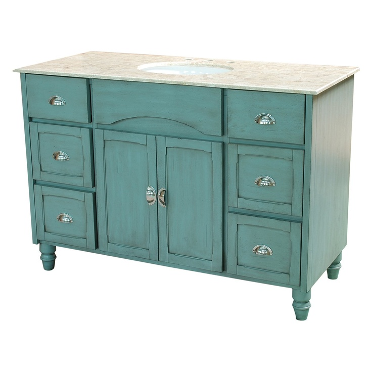 Beautiful Turquoise Yosemite Home Décor YV2240 48 Traditional Single Vanity    Fixture Universe