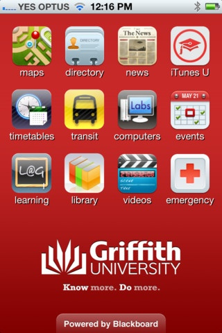 Discover Griffith University via this excellent - and free - app.