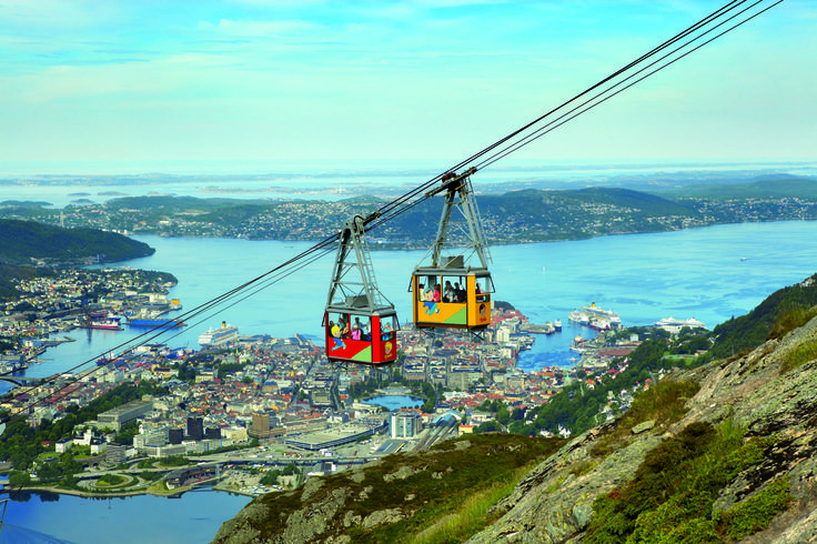 Ulriken 643 Panorama will take you to the top of the mountains by our cable cars to enjoy an amazing view of Bergen