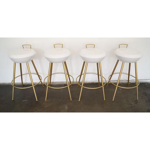 Image of Mid-Century California Modern Bar Stools - Set of 4