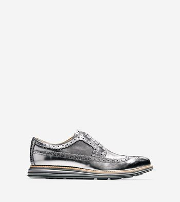 Cole Haan Offers Metallic Options with Latest Grand and ZeroGrand Shoes: Cole  Haan's popular Original Grand Long Wingtip and ZeroGrand Wing Oxford shoes  ...