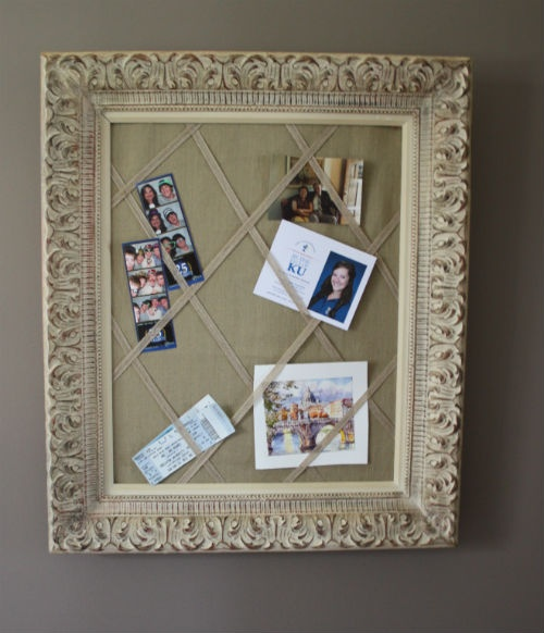 decorate background then use elastic bands to keep photos in place