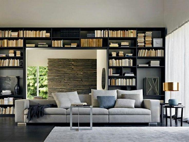 17 beste idee n over zwarte boekenkast op pinterest zwarte schappen boekenplank styling en - Afscheiding glas keuken woonkamer ...