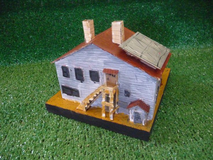Cardboard house on wood #4 $150