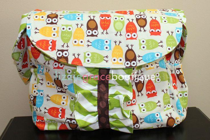 Custom Diaper Bag, Large Diaper Bag, Messenger Bag, Choose your own fabric - pinned by pin4etsy.com