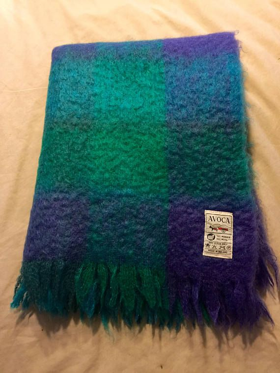 VIntage Ireland Avoca Mohair Wool Bohemian Chic Hollywood