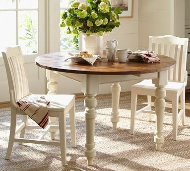 this is the colors for my dream kitchen french white and natural wood white round dining tableround. Interior Design Ideas. Home Design Ideas