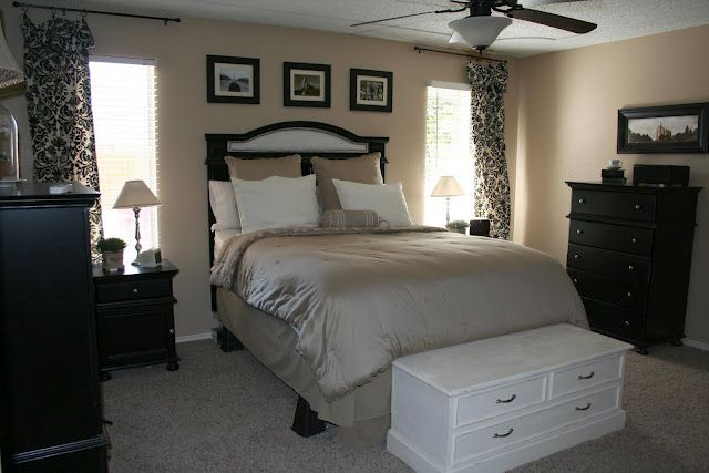 Bedroom inspiration beige black and white home decor for Beige and black bedroom ideas