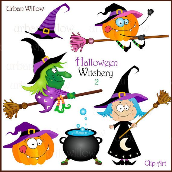 HALLOWEEN WITCHERY 2 - Clip art collection.
