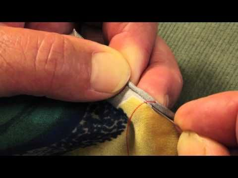 How to hand roll a silk scarf - YouTube