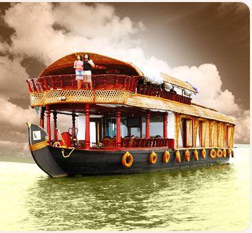Kerala houseboat. I'll be on one this November! :)