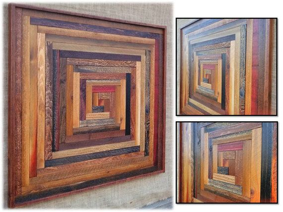 Reclaimed Wood Wall Hanging Art Sculptures by AlleyCatDesignSt