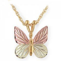 Black Hills Gold: Butterfly necklace