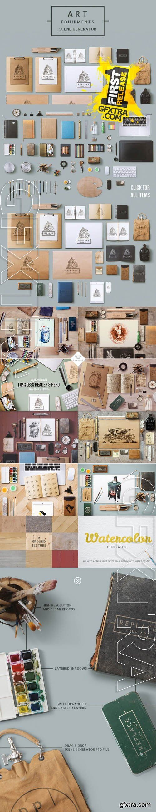 Art Equipments Scene Generator - Creativemarket 83407