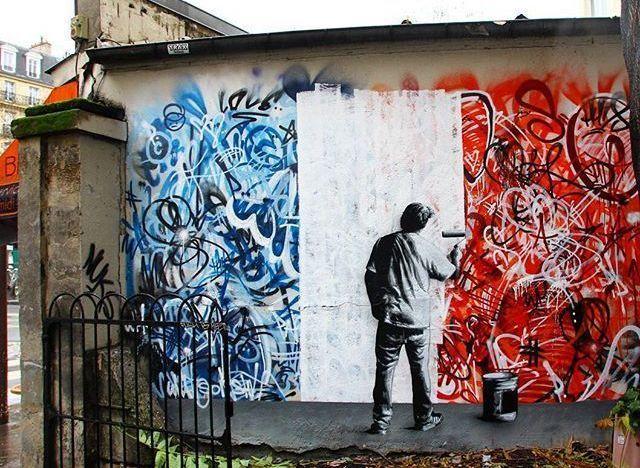 Τρεις καλλιτέχνες του δρόμου δίνουν τη δική τους απάντηση στην τρομοκρατική επίθεση στο Παρίσι