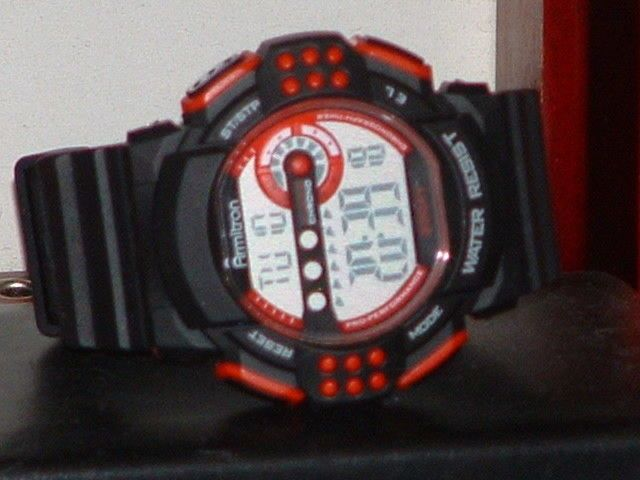 Pre-Owned Men's Armitron Red & Black 40/8270 Digital Sports Watch #Armitron #Sport