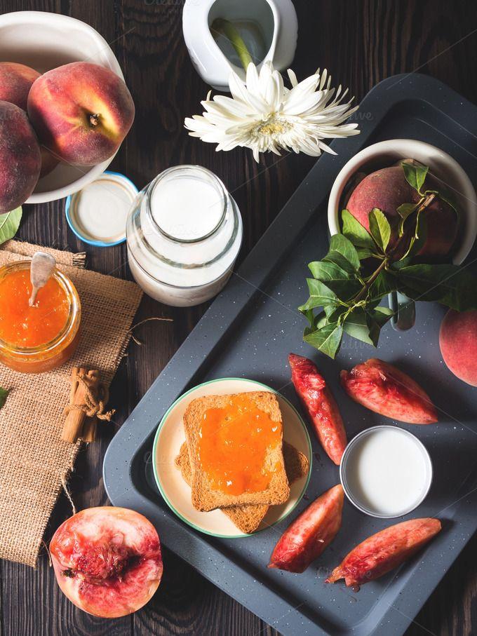 Summer breakfast still life by Life Morning Photography on @creativemarket